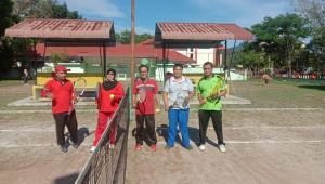 Jalin Kebersamaan KPA dan KPN Tanjungbalai Olahraga Tenis Bersama