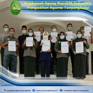 Pelaksanaan Vaksinasi Tahap ke-2 Pengadilan Agama Tanjungbalai