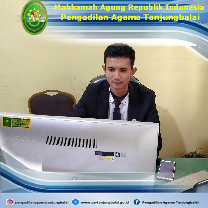 CPNS PA Tanjungbalai Mengikuti Seminar Rancangan Aktualisasi Latsar CPNS Gol III Mahkamah Agung RI Tahun 2021