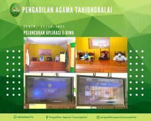 Pengadilan Agama Tanjungbalai Ikuti Launching Aplikasi e-BIMA Melalui Zoom Meeting