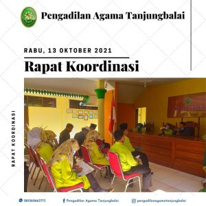 Rapat Koordinasi Bulan Oktober 2021 Pengadilan Agama Tanjungbalai